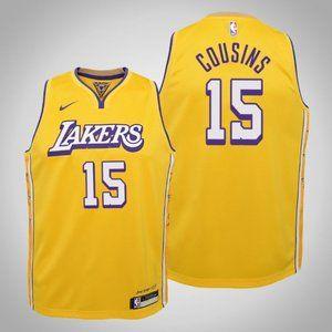 Women Lakers #15 DeMarcus Cousins City Jersey